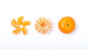 许多橙色形状白色背景 免版税库存照片
