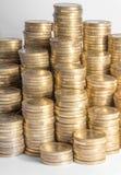 许多欧洲硬币 免版税库存图片