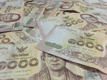 许多泰国金钱是富有的 免版税库存图片