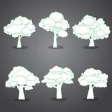 许多生态的图象我的投资组合结构树向量 库存图片