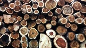 许多用木材建造 库存照片