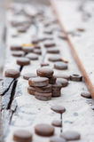 许多电烙硬币 免版税库存照片