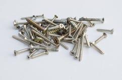 许多的小组螺丝物质工具设备的类型construc的 库存照片