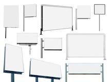 许多的汇集广告横幅广告牌和标志 免版税图库摄影