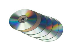 许多的cd s 库存图片