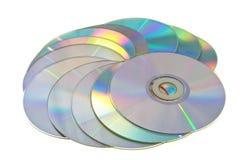 许多的cd s 免版税库存图片