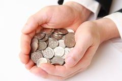 许多硬币 库存图片