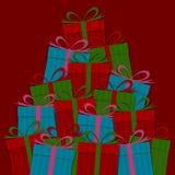 许多礼物盒 免版税图库摄影