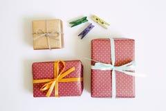 许多礼物盒 库存照片