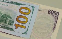 许多种类钞票-接近  免版税库存照片