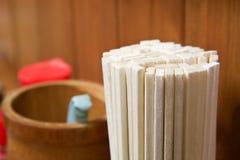 许多筷子 库存照片