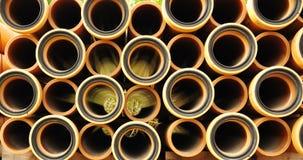 许多管道水 库存图片