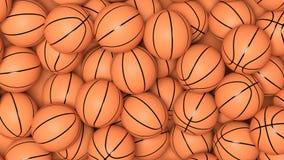 许多篮球球 免版税库存照片