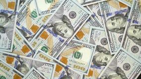 许多美元转动 金钱转动的背景  现金转动的Hape 股票录像
