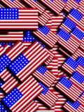 许多美国国旗4 免版税图库摄影