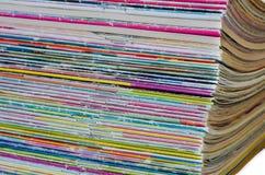许多老杂志的颜色 ?? 免版税库存照片