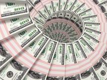 许多背景的美元货币 库存图片