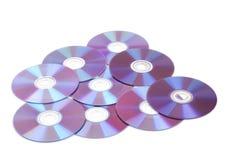 许多背景CD的盘s 免版税库存图片