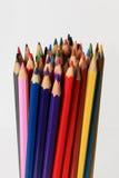 许多色的木铅笔 免版税库存图片