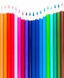 许多色的木铅笔 免版税图库摄影