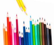 许多色的木铅笔 库存图片