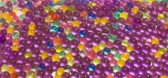许多色的水凝胶小珠 免版税库存图片
