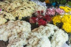 许多花许多在花市场上上色 图库摄影