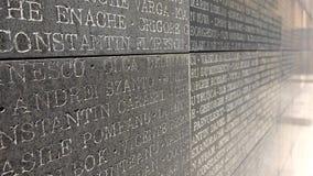 许多英雄在石头命名写给荣誉受难者 股票视频