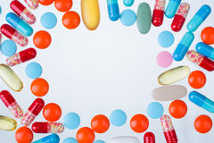 许多药片 图库摄影