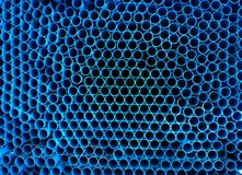 许多蓝色管子 免版税库存图片