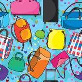 许多袋子爱无缝的Pattern_eps 库存照片