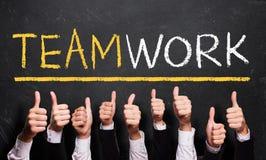 许多赞许对& x22; Teamwork& x22; 免版税库存图片