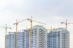 许多起重机修建大厦 图库摄影