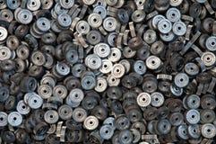 许多金属齿轮特写镜头  图库摄影
