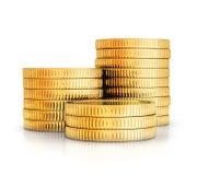 许多金coints 免版税库存照片