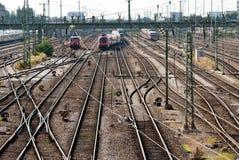 许多铁路运输 免版税库存照片