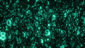 许多闪耀的落的数字-无缝的圈