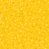 许多雪花的无缝的样式在黄色背景的 基督 皇族释放例证