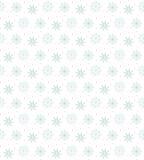 许多雪花的轻的无缝的蓝色样式在白色backgrou的 向量例证