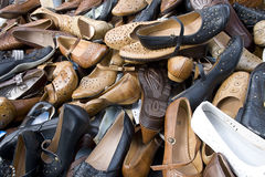 许多鞋子 免版税库存照片