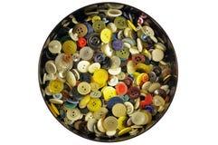 许多颜色按钮  免版税库存照片