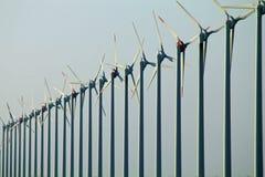 许多风车 免版税库存照片