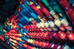 许多巴尔卡角蜡烛 图库摄影