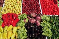 许多水果和蔬菜 免版税库存图片