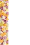许多结果实胶粘的五颜六色的糖果 免版税库存图片
