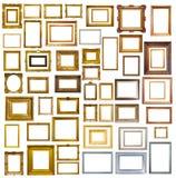 许多画框。隔绝在白色 免版税库存照片
