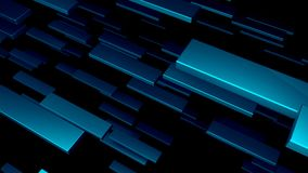 许多3D金属块在空间,计算机生成的现代抽象背景, 3d回报 股票录像