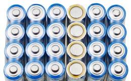 许多AA电池关闭  免版税图库摄影