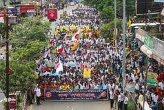 许多Satyagraha抗议 库存照片