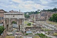 论坛废墟,罗马,意大利 免版税库存照片